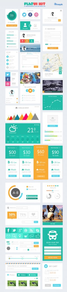 Kit UI Flat Design