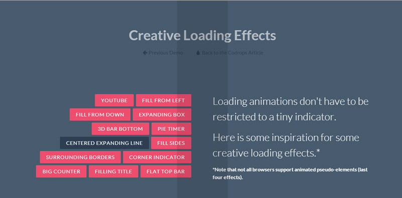 Loading CSS3 - Centered Expanding Line