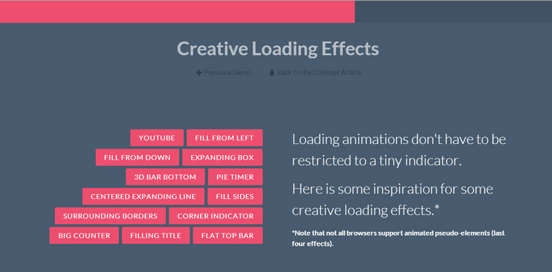 Loading CSS3 - Flat Top Bar